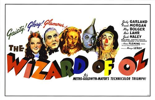 colorful Wizard of Oz