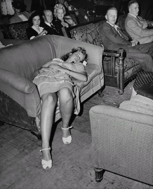 sleeping in public