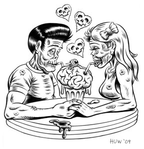 zombie_couple_inks_by_huwman-d2znwm2