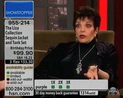 Liza Minnelli odd appearance on HSN