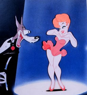 Tex Avery wolf and red