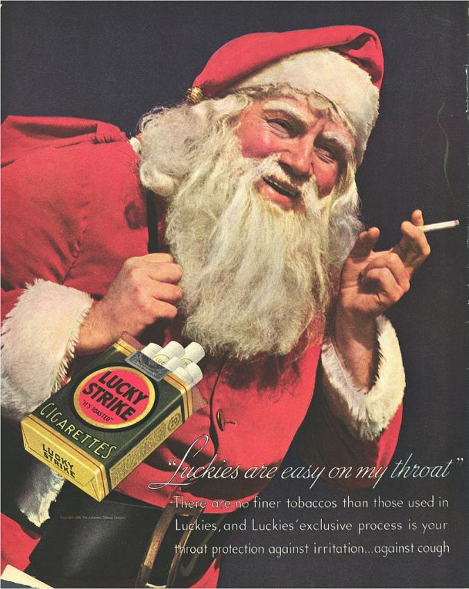 Vintage Santa Claus Cigarette Ads (1)
