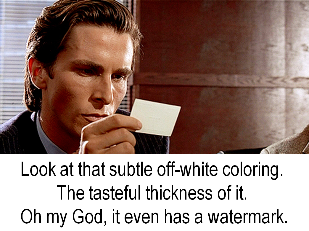 American psycho pin up picks pen up american businesscard 2gan793 reheart Image collections