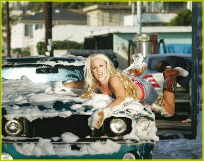 car wash pink