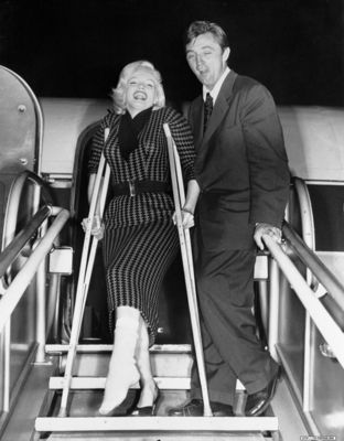 Actress Marilyn Monroe with Actor Robert Mitchum