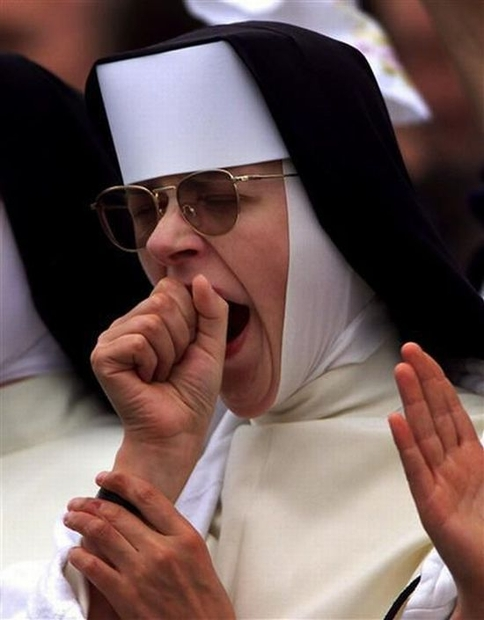 yawning nun