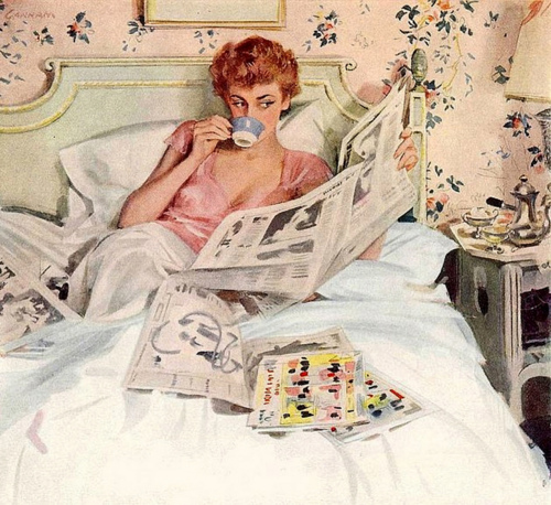 vintage-girl-reading-newspaper