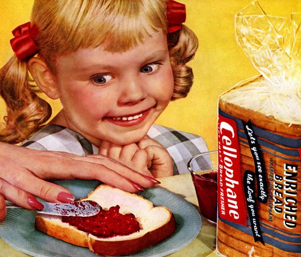 creepy girl stares at bread and jelly cello54a