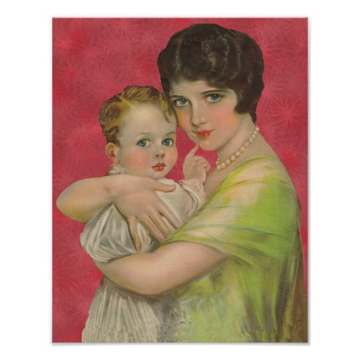 vintage_1930_s_mother_holding_baby_mother_s_day_poster-r5c686f6175594805a1e72d988d4638f9_wvw_8byvr_512